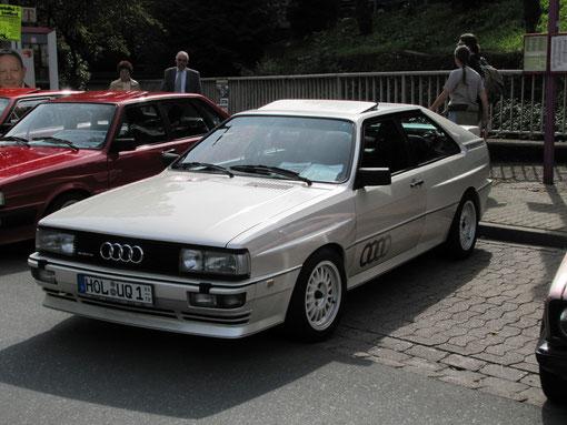 """Noch eine Rallyesportlegende: Der Audi Quattro, den man heute den """"Urquattro"""" nennt."""