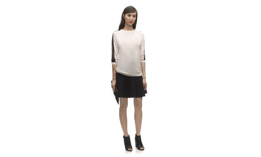 Whistles Lace panel jumper