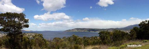 Aussicht auf Hobart