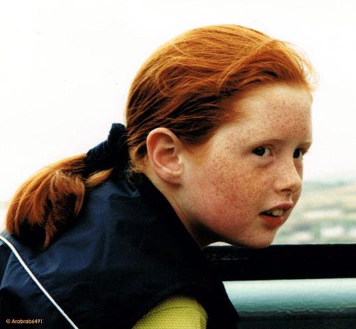 Irish Girl auf der Fähre zur Rathlin Island/Nordirland