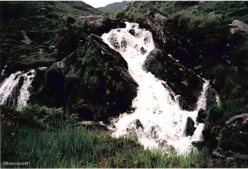 Bergbach in den Caha Mountains, Co. Kerry