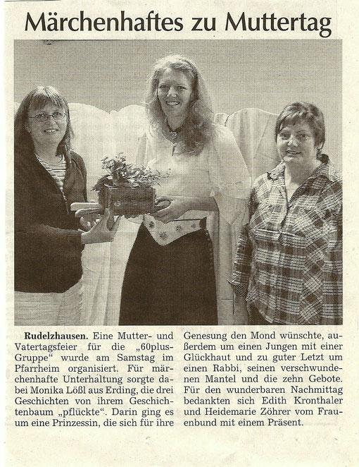 Hallertauer Tagblatt vom 12. Mai 2011