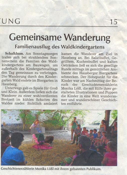 Waldkindergarten Schalking am 9. Juni 2013