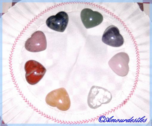 Sélection de petits coeurs ...de toutes couleurs...