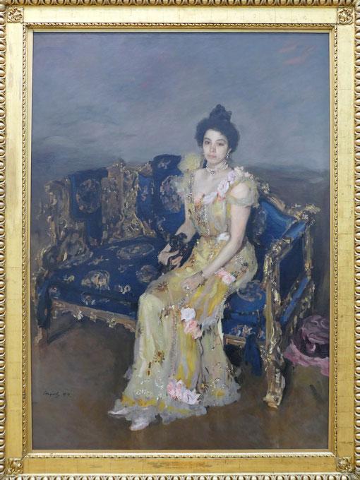 Valentin Serov (1865-1911) : portrait de Sofia Botkina
