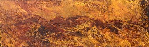 dunes et vents, pigments naturels et liants acrylique sur toile,20*60