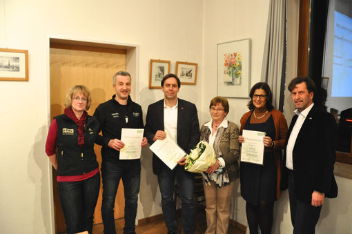 Jubilare 2013, Jahreshauptversammlung DAV Georgensgmünd Gasthaus Krone