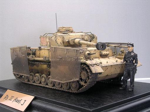 Die Seitenschürzen (Thoma-Schürzen) aus Draht boten immer noch einen wirkungsvollen Schutz gegen Bazooka oder Panzerbüchsenbeschuss.
