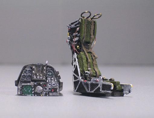 Martin Baker-10 Schleudersitz und Armatureneinsatz.