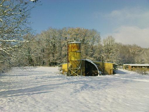 Les pigeonniers...sous la neige