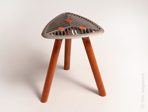 Salvage Stool - plain legs
