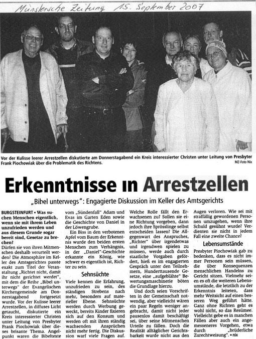 Bibelabend beim Amtsgericht Steinfurt
