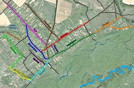 План-схема с названиями улиц