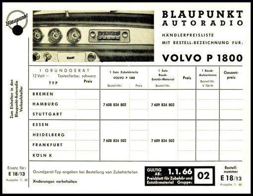 Blaupunkt Radio für P 1800