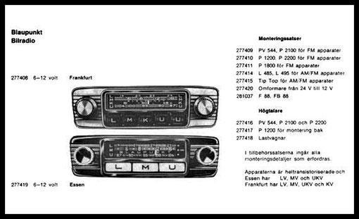 radios in den 50 60 jahren volvo aus den sechzigern bis. Black Bedroom Furniture Sets. Home Design Ideas
