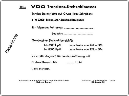 VDO Drehzahlmesser - Volvo aus den Sechzigern bis heute