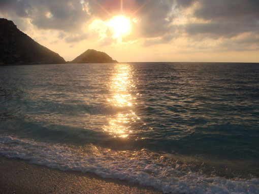Kefalonia - Sonnenuntergang, Petanoi Strand