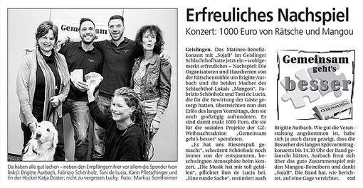 Pressebericht vom 25.01.2012 aus der Geislinger Zeitung