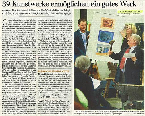 Pressebericht vom 17.03.2012 aus der TUTTGARTER ZEITUNG