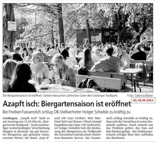 Pressebericht vom 02.05.2012 aus der GEZ