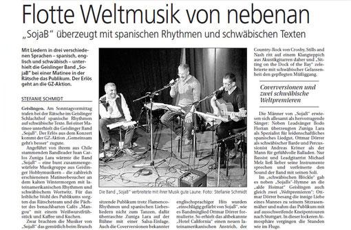 Pressebericht vom 17.01.2012 aus der Geislingen Zeitung