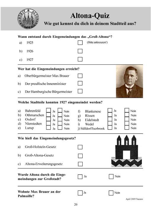 Ein Fragebogen für Klassenstufe 6 - 7