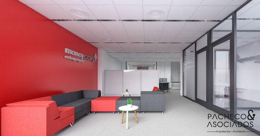 Diseño interior para oficinas Moneycorp (Torrevieja)