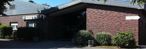 Bürgerhalle Gereonsweiler, rechts vorbei unten befindet sich der Schießstand!