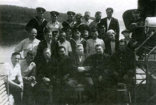 На пароходе «Сталин». Якутия 1957 год