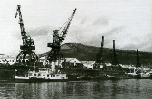 Осетровский порт 60-е годы