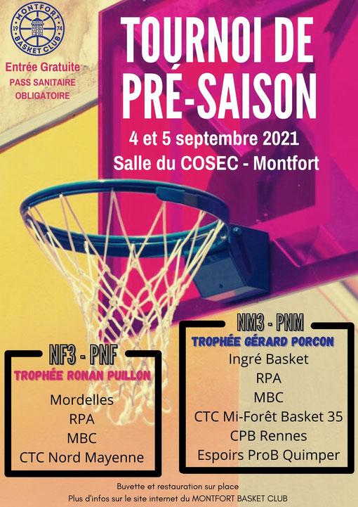 Tournoi de pré-saison / Montfort Basket Club