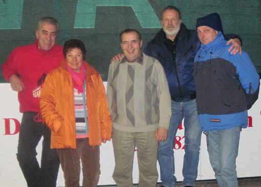 Vereinsmeister v.l. Herbert Siller, Hildegard Rosatzin, Michael Lochner, Kurt Rosatzin und Kai Schindlinger
