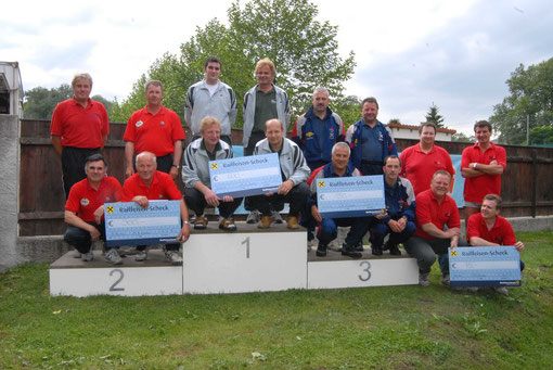 v.l. ESV Wals, Union Seiwald Peuerbach, SG SSV Raiffeisen Alkoven, Union Ramingtal