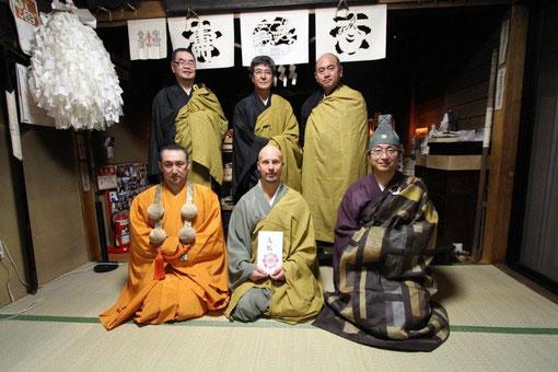 """Tokudo Japan 2012"" Sensei Christian Grübl erhielt hier den Mönchsnamen Jukai"