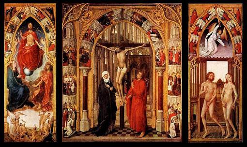 Tríptico de la Redención y de los 7 sacramentos. Museo del Prado. Van der Stockt