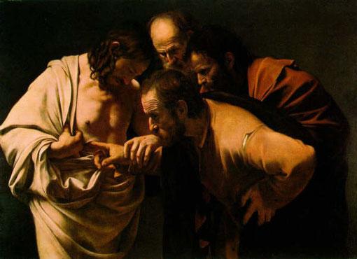 La incredulidad de Santo Tomás .Caravaggio