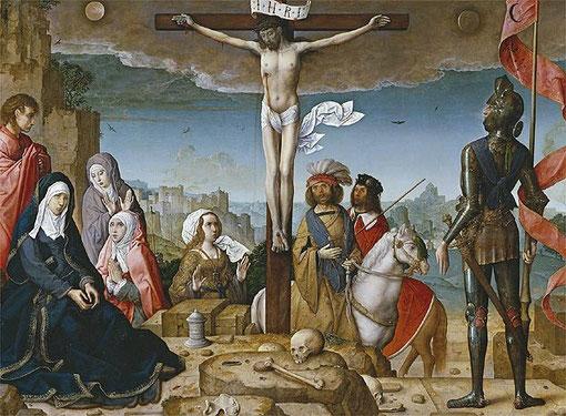 Crucifixión de Juan de Flandes.SXIV Museo del Prado
