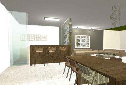 Einrichtungsplanung/3-D-Rendering für Villa