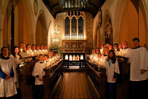 The Choir before the Festival of Nine Lessons and Carols, 2011