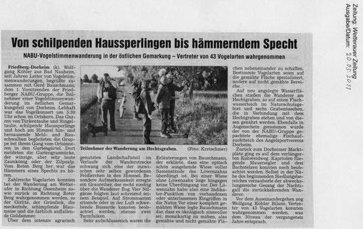 Vogelstimmenwanderung am 8. Mai 2011 in Dorheim