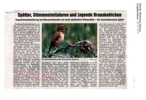 Naturschutz-Erlebnistag 15. Mai 2011 - Vogelstimmenwanderung in Bruchenbrücken