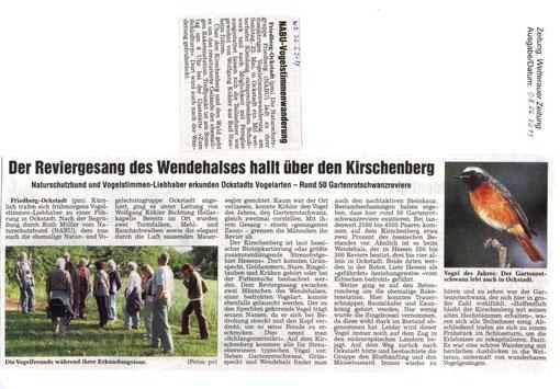 Naturschutz-Erlebnistag 22. Mai 2011 - Vogelstimmenwanderung Ockstadt