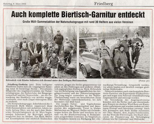"Aktion ""Saubere Landschaft"" 2008"
