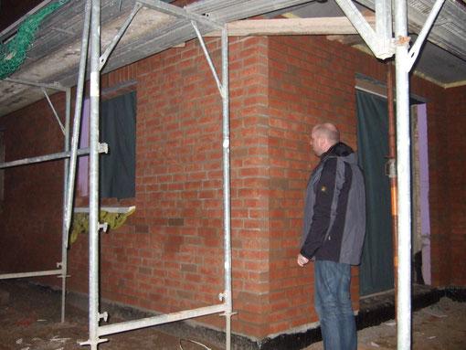 Hintere Hauswand / Ausgang zur Terrasse