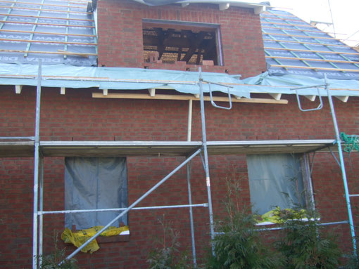 Die Rückseite des Hauses ist fertig
