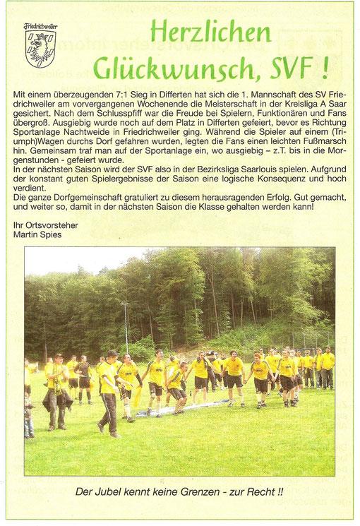 Wadgasser Rundschau 26. Mai 2011