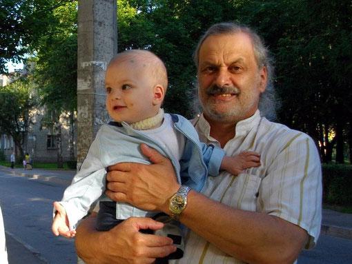 Иосиф Хусенский с сыном Аркашей