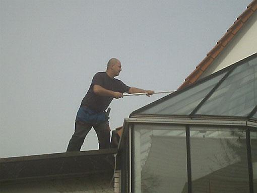 Wintergarten Dach Reinigung