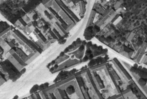 Luftbild Hauptplatz 1944