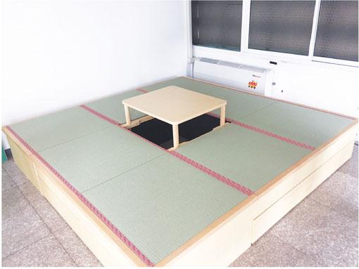 コンドミニアムの一角に畳コーナーを設置